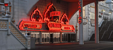 Neon for Trump's Taj Mahal, Atlantic City, NJ. Royalty Free Stock Photo