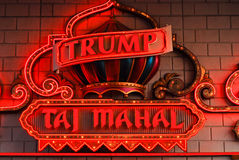 Neon for Trump's Taj Mahal, Atlantic City, NJ. Royalty Free Stock Photography