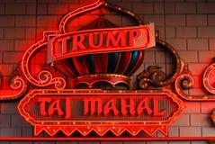 Neon for Trump's Taj Mahal, Atlantic City, NJ. Royalty Free Stock Photography