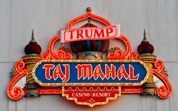 Neon for Trump's Taj Mahal, Atlantic City, NJ. Stock Photography