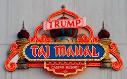 Neon for Trump's Taj Mahal, Atlantic City, NJ. Stock Photography
