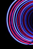 Neon tube abstract shape background Stock Photography