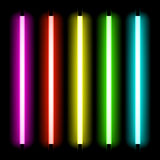 Neon tube light. Neon tubes light vector illustration vector illustration