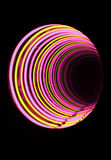 Neon tube tunnel Royalty Free Stock Images