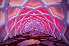 Neon tunnel Royalty Free Stock Photo