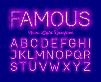 Neon typeface Royalty Free Stock Images