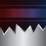 Neon- und Metallhintergrund Lizenzfreies Stockbild