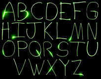 Neon Uppercase Alpabet Royalty Free Stock Photos