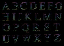 Neon Uppercase Alphabets Royalty Free Stock Images