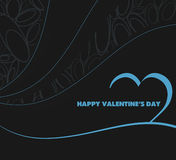 Neon valentine's vector background Stock Images