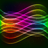 Neon vector equalizer wave Royalty Free Stock Image