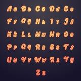 Neon vector letters. Glow tube brightness symbols Royalty Free Stock Photo