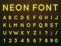 Neon, Vektorguß stock abbildung