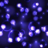 Neon violet bokeh effect seamless pattern Stock Photography