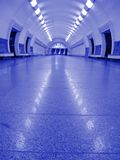 Neon violet subway interior, nobody, tunnel Stock Photos
