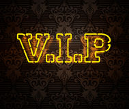 Neon VIP sign II. Neon yellow VIP sign isolated stock photos