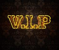 Neon VIP undertecknar II Arkivfoton