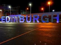 Neon vom Flughafen Stockfotografie