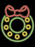 neon wakacyjnego wianek Fotografia Stock