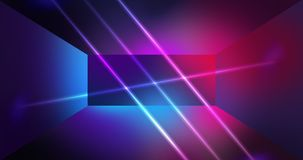 Neon wall background, glowing lines, neon lights. Virtual reality, abstract psychedelic background, ultraviolet, bright colors Stock Image
