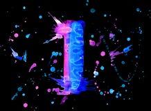 Neon watercolor paint - digit Stock Image