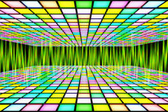 Neon waveform pattern backgrounds Royalty Free Stock Photos