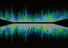 Neon waveform pattern on black backgrounds Stock Photo