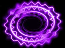 Neon waves threads purple. Abstract neon waves threads on a black background Stock Photography