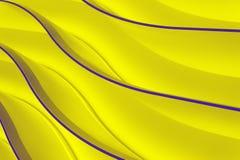 Neon waves Stock Image