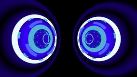 Neon Wheels background, 3d illustration. Computer-generated image on abstract theme Royalty Free Stock Image