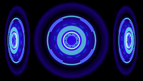 Neon Wheels background, 3d illustration Royalty Free Stock Images