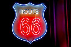 Neon window sign  50's style Royalty Free Stock Images