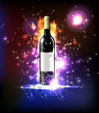 Neon wine Royalty Free Stock Photos