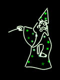 Neon wizard Royalty Free Stock Photo