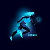 Neon Woman Runner Vector Stock Images