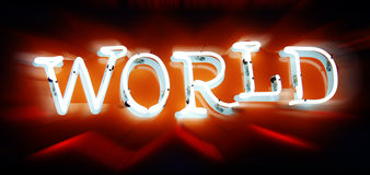 Neon World Royalty Free Stock Photography