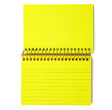 Neon Yellow Spiral-Bound Note Cards Stock Photography