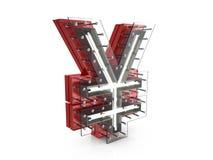 Neon yen symbol Royalty Free Stock Photo