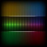 Neonabstrakt begrepp fodrar design på mörkerbakgrund royaltyfri illustrationer