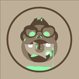 Neonaffe-Zombies vektor abbildung