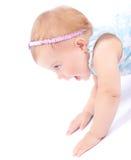 Neonata allegra piacevole Fotografia Stock