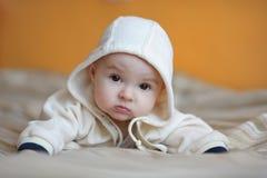 Neonata anziana di sei mesi Immagine Stock Libera da Diritti