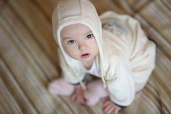 Neonata anziana di sei mesi Fotografia Stock