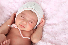 Neonata appena nata fotografie stock