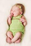 Neonata appena nata Immagini Stock
