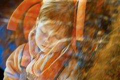 Neonata in automobile fotografia stock