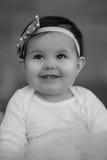 Neonata in bianco e nero Immagini Stock