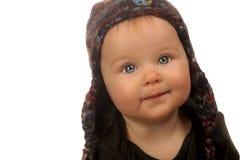 Neonata in cappello fotografia stock libera da diritti