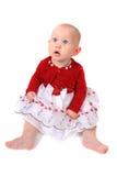 Neonata che osserva in su Fotografia Stock