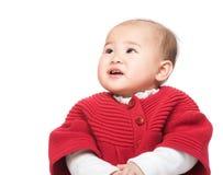 Neonata cinese che esamina la cima fotografia stock